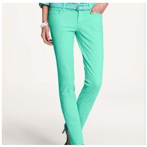 ANN TAYLOR Modern Fit Skinny Jeans in Mint